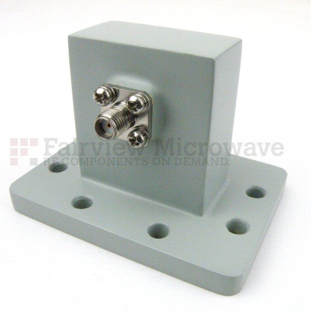 WR-137 to SMA Female Waveguide to Coax Adapter UDR70 Flange With 5.85 GHz to 8.2 GHz Frequency Range For C Band