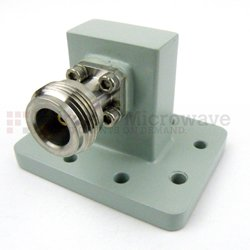 WR-90 to N Female Waveguide to Coax Adapter PDR100 Flange With 8.2 GHz to 12.4 GHz Frequency Range high resolution