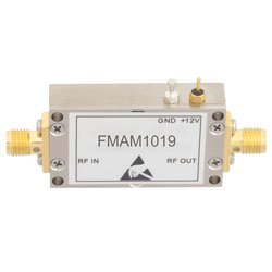 40 dB Gain 0.8 dB NF Low Noise High Gain Amplifier Operating From 1 GHz to 2 GHz with 11 dBm P1dB and SMA high resolution