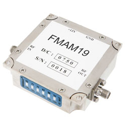 26 dB Gain Block Amplifier Operating From 1 GHz to 4 GHz with 15 dBm P1dB and SMA high resolution