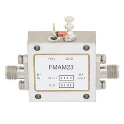 22 dB Gain Block Amplifier Operating From 6 GHz to 18 GHz with 13 dBm P1dB and SMA high resolution