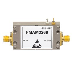 3 dB NF, 10 MHz to 6 GHz, Low Noise Broadband Amplifier with 14.5 dBm, 34 dB Gain, 25.5 dBm IP3 and SMA high resolution