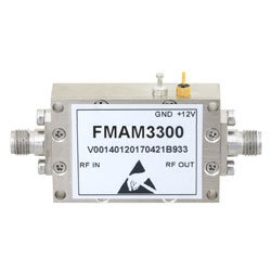 2 dB NF Amplifier, Operating From 26.5 GHz to 40 GHz with 43 dB Gain, 12 dBm P1dB and 2.92mm high resolution