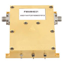 10 MHz to 6 GHz, Medium Power Broadband Amplifier with 900 mW, 13 dB Gain and SMA high resolution