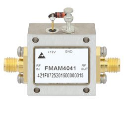 2 GHz to 6 GHz, Medium Power Broadband Amplifier with 500 mW, 22 dB Gain and SMA high resolution