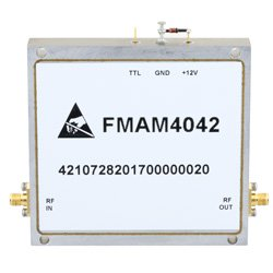 2 GHz to 6 GHz, Medium Power Broadband Amplifier with 3 Watt, 36 dB Gain and SMA high resolution
