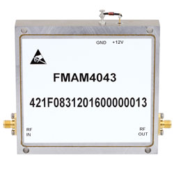 2 GHz to 6 GHz, Medium Power Broadband Amplifier with 3 Watt, 44 dB Gain and SMA high resolution