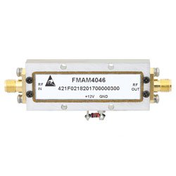 3.1 GHz to 3.5 GHz, Medium Power Broadband Amplifier with 1 Watt, 30 dB Gain and SMA high resolution
