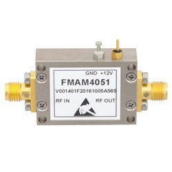 2 GHz to 18 GHz, Medium Power Broadband Amplifier with 16 dBm, 12 dB Gain and SMA high resolution