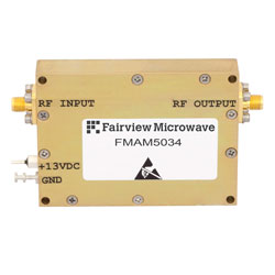 Medium Power Amplifier at 2 Watt Psat Operating From 800 MHz to 4.2 GHz with 31 dB Gain, 41 dBm IP3 and SMA high resolution