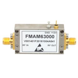 1.5 dB NF Input Protected Low Noise Amplifier, Operating From 10 MHz to 1,000 MHz with 40 dB Gain, 17 dBm P1dB and SMA high resolution