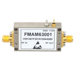1.5 dB NF Low Noise Amplifier Operating From 10 MHz to 1,000 MHz with 40 dB Gain, 17 dBm P1dB and SMA high resolution