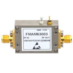 1.6 dB NF Low Noise Amplifier Operating From 30 MHz to 1.5 GHz with 29 dB Gain, 23 dBm P1dB and SMA high resolution
