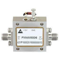 12 dB Gain Block Amplifier Operating From 6 GHz to 12 GHz with and SMA high resolution
