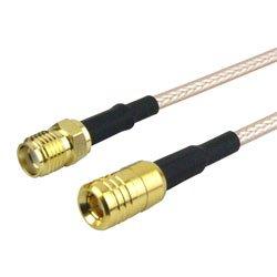 RG316 BNC FEMALE BIG BULKHEAD to SSMB Female Coaxial RF Cable USA-US