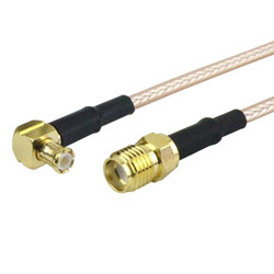 SMA Female (Jack) to RA MCX Plug (Male) Cable M17/113-RG316 Coax Up To 3 GHz in 60 Inch high resolution