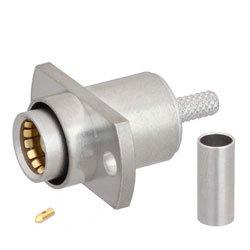 BMA Jack Slide-On Connector Crimp/Solder Attachment 2 Hole Flange For RG316, RG174, LMR-100 Cable