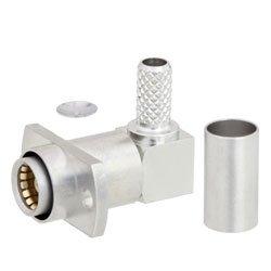 RA BMA Jack Slide-On Connector Crimp/Solder Attachment 2 Hole Flange For RG142, RG223, RG400, RG55 Cable