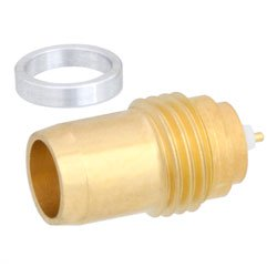 BMA Plug Slide-On Hermetically Sealed Thread-In Gold Plated high resolution