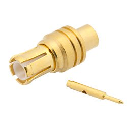 """1pce Connector MMCX female jack solder RG405 0.086/"""" cable RF COAXIAL Straight"""
