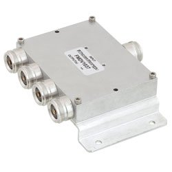 4 Way Power Divider 4.1/9.5 Mini DIN Connectors To 2.7 GHz Rated at 30 Watts high resolution