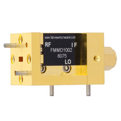 WR-15 Waveguide Down Converter Mixer From 50 GHz to 75 GHz, With an IF Range From DC to 18 GHz And LO Power of +13 dBm, UG-385/U Flange high resolution
