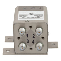 Transfer Latching DC to 26.5 GHz Electro-Mechanical Relay Switch, Self Cut Off, Diodes, 20W, 12V, SMA high resolution