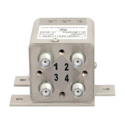 Transfer Latching DC to 26.5 GHz Electro-Mechanical Relay Switch, Self Cut Off, Diodes, 20W, 28V, SMA high resolution