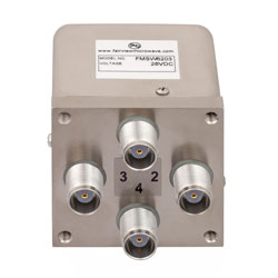 Transfer Failsafe DC to 12.4 GHz Electro-Mechanical Relay Switch, 50W, 28V, TNC high resolution