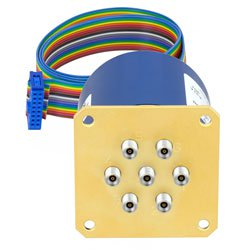 SP6T Latching 0.05 dB Low Insertion Loss Repeatability DC to 40 GHz Terminated Relay Switch, Indicators, Self Cut Off, TTL, 5W, 24V, 2.92mm high resolution