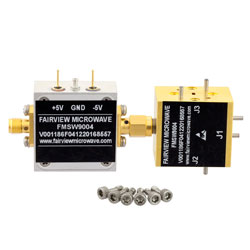 WR-10 Waveguide PIN Diode SPDT Switch 75 GHz to 110 GHz Frequency Range W Band Using a UG-387/U Flange high resolution