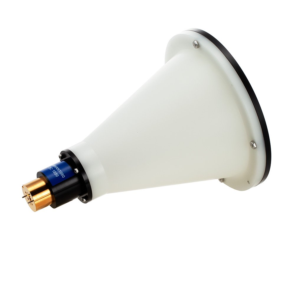 Lens Horn Waveguide Antenna, WR-12, 72 GHz to 82 GHz, UG-387/U Round Cover Flange, 37 dBi Nominal Gain high resolution