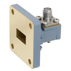 WR-51 to SMA Female Waveguide to Coax Adapter Square Cover Flange With 15 GHz to 22 GHz Frequency Range For N Band high resolution