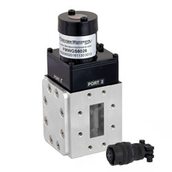 WR-137 Waveguide Electromechanical Relay Latching Switch SPDT 8.2 GHz Max Frequency, 12,000 Watts C Band CPR-137F Flange high resolution