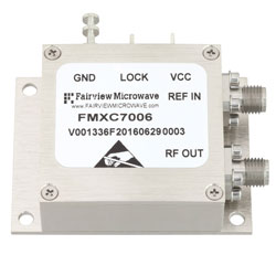 1 GHz Phase Locked Oscillator, 100 MHz External Ref., Phase Noise -110 dBc/Hz and SMA high resolution