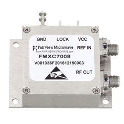 4 GHz Phase Locked Oscillator, 100 MHz External Ref., Phase Noise -110 dBc/Hz and SMA high resolution