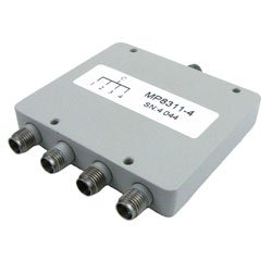 4 Way Power Divider SMA Connectors From 800 MHz to 2 5 GHz