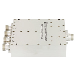 4 Way High Power Broadband Combiner N Connectors From 800 MHz to 2.5 GHz Rated at 600 Watts high resolution