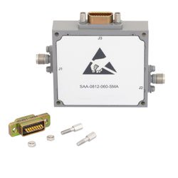 Voltage Variable PIN Diode Attenuator from 0 to 60 dB 6 GHz to 12 GHz and SMA 15-Pin D-Subminiature Control high resolution
