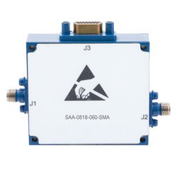 Voltage Variable PIN Diode Attenuator from 0 to 60 dB 8 GHz to 18 GHz and SMA 15-Pin D-Subminiature Control high resolution