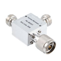 N Bias Tee From 10 MHz to 3 GHz Rated To 1000 mA And 72 Volts DC high resolution