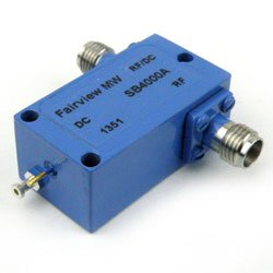 2.92mm Bias Tee From 0.03 MHz to 40 GHz Rated To 500 mA And 25 Volts DC high resolution