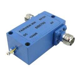SMA Bias Tee From 0.1 MHz to 12.4 GHz Rated To 700 mA And 50 Volts DC high resolution