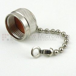 N Male Open Circuit Connector Cap With 2.5 Inch Chain high resolution