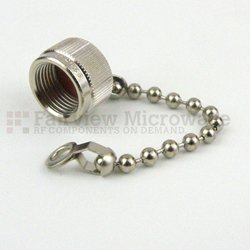 TNC Male Open Circuit Connector Cap With 2.5 Inch Chain high resolution