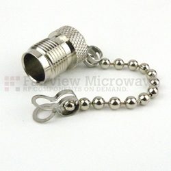 TNC Female Open Circuit Connector Cap With 2.76 Inch Chain high resolution