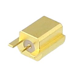 Mini SMP Male (Plug) Smooth Bore PCB Connector End Launch, Solder high resolution