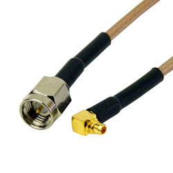 RG316 MMCX MALE to SMA MALE Coaxial RF Cable USA-US
