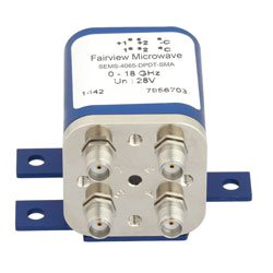 Transfer Latching DC to 18 GHz Electro-Mechanical Relay Switch, Indicators, Self Cut Off, up to 240W, 28V, SMA high resolution