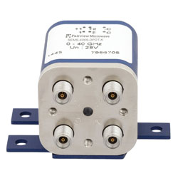Transfer Latching DC to 40 GHz Electro-Mechanical Relay Switch, Indicators, Self Cut Off, up to 80W, 28V, 2.92mm high resolution